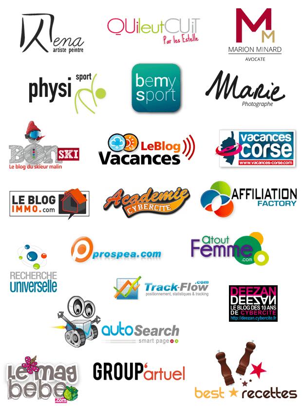 Planche de création de logotype