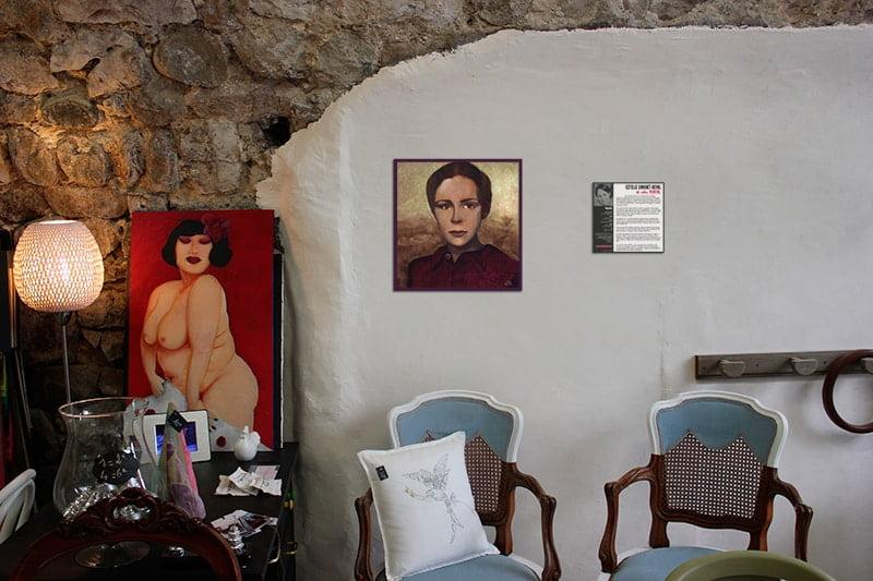 """Exposition solo peinture Estelle Simonet-Revol dit """"elle"""", peintre Lyonnaise"""