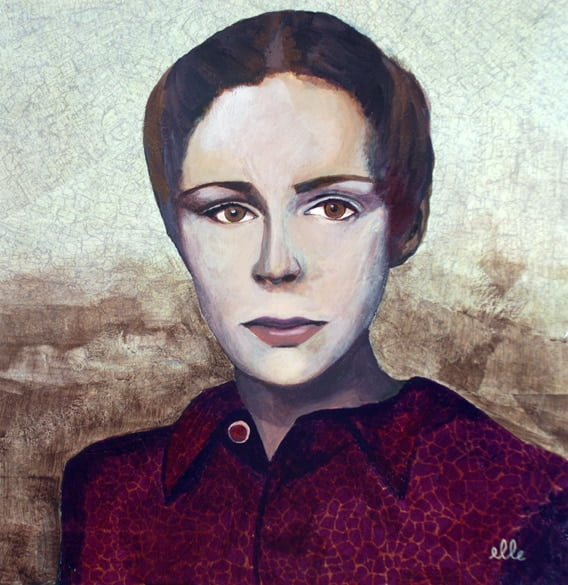 """Peinture """"Agnès"""" Copyright © Estelle Simonet-Revol, graphiste et artiste plasticienne"""