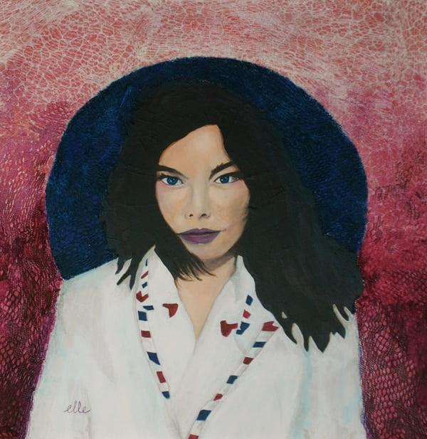 "Peinture ""Bjork"" Copyright © Estelle Simonet-Revol, graphiste et artiste plasticienne"