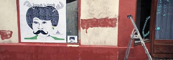 Décorations des vitrines rue Franki Kramer